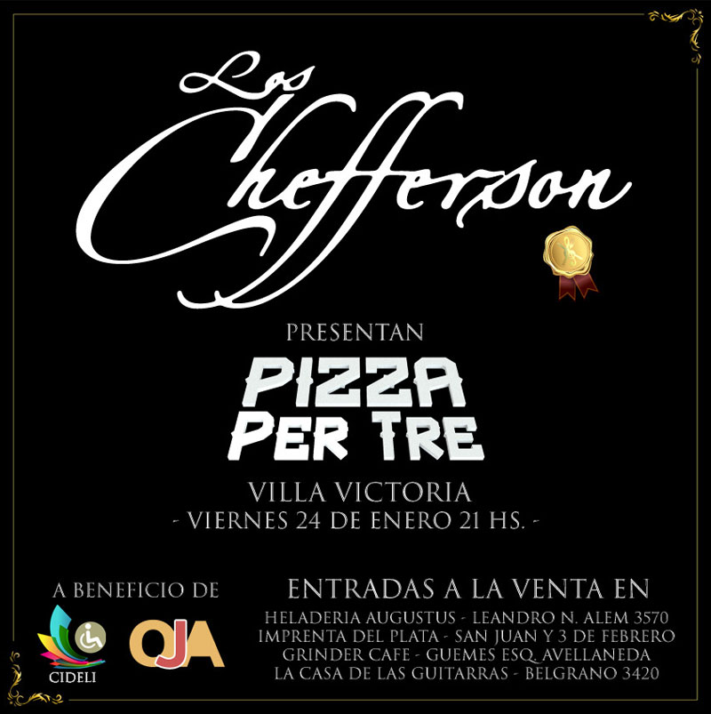 Pizza per tre Los chefferson